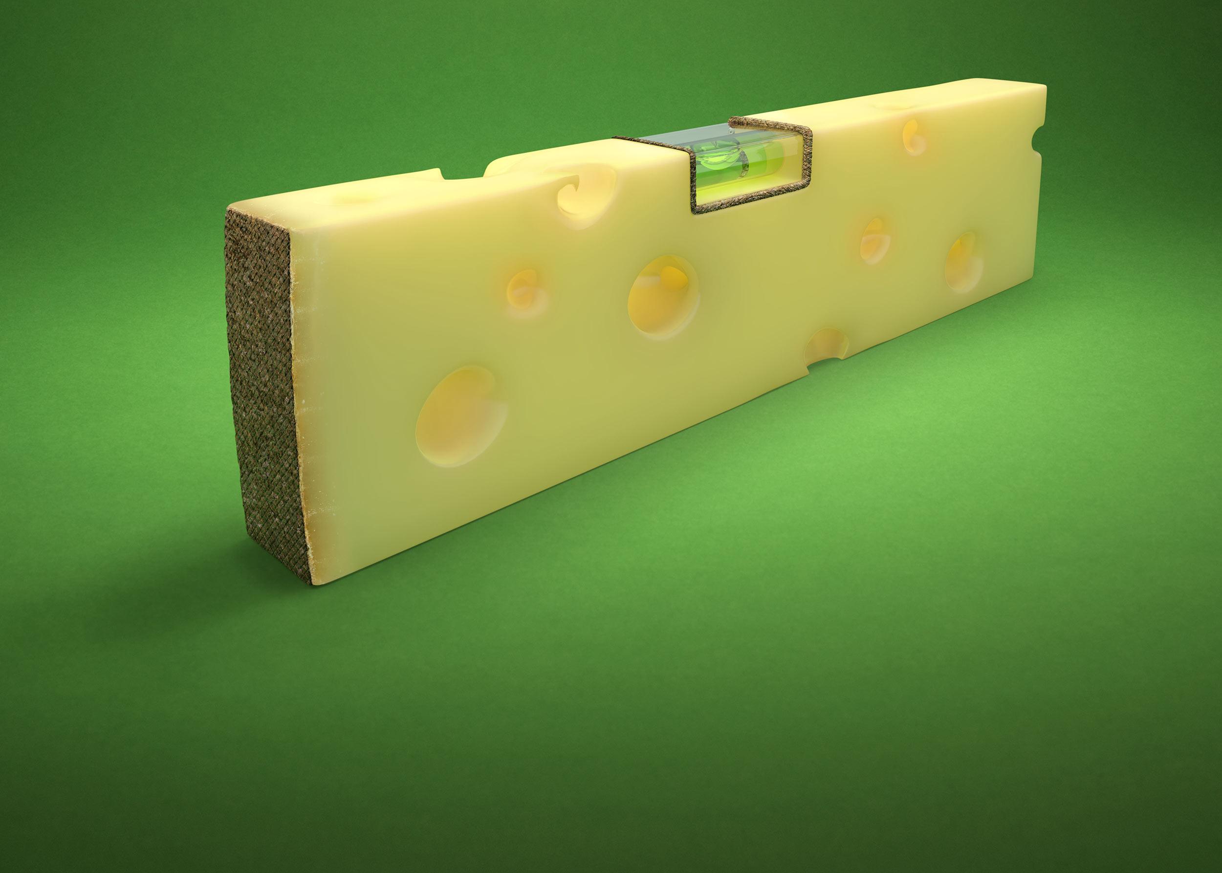 CGI Rendering 3d DK-Küchen Wir kochen Sie bauen food carving Werkzeug Transformation Käse Wasserwaage Idris Kolodziej