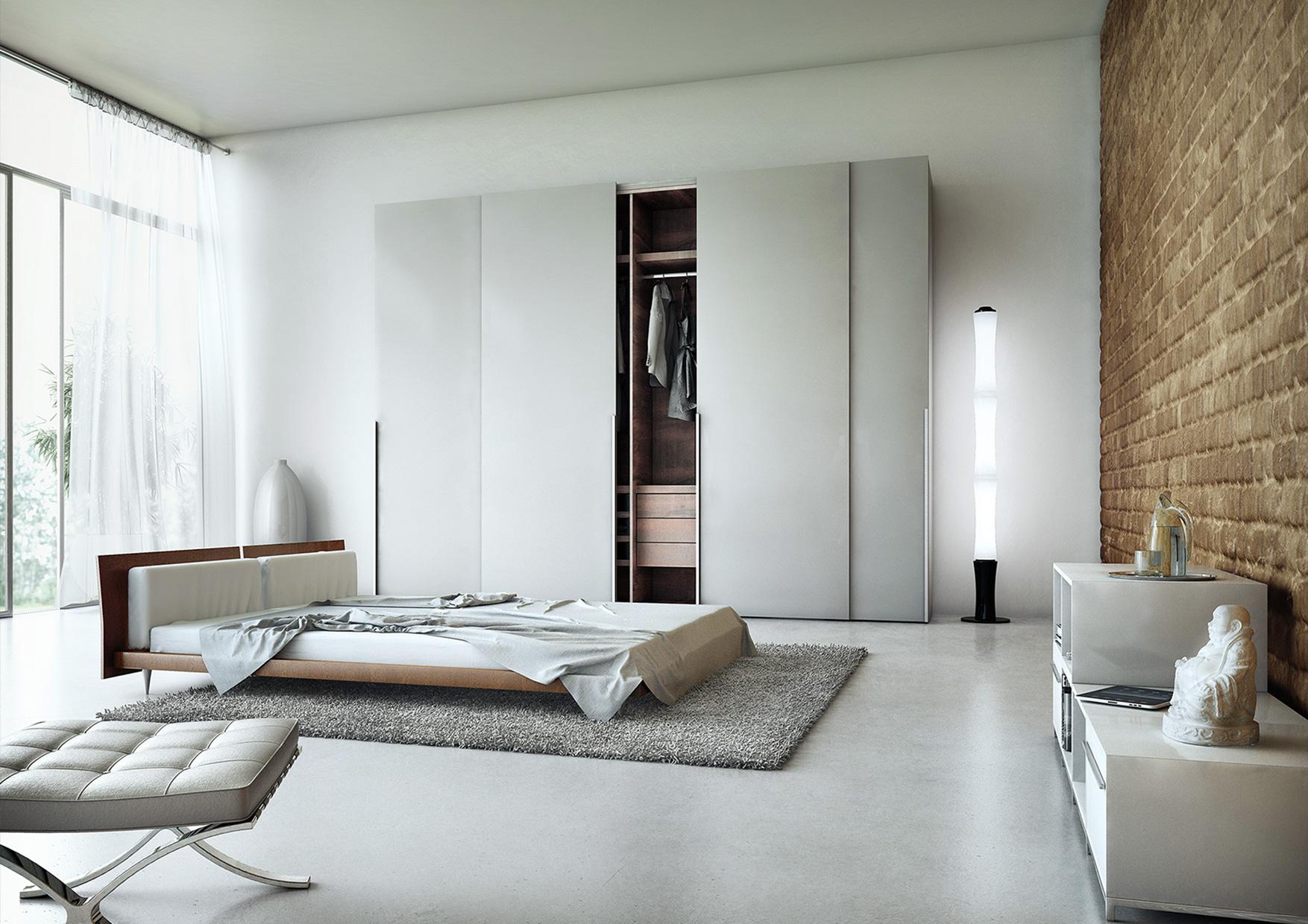 CGI Rendering 3d Beton Concrete Apartment Interior Schlafzimmer Idris Kolodziej