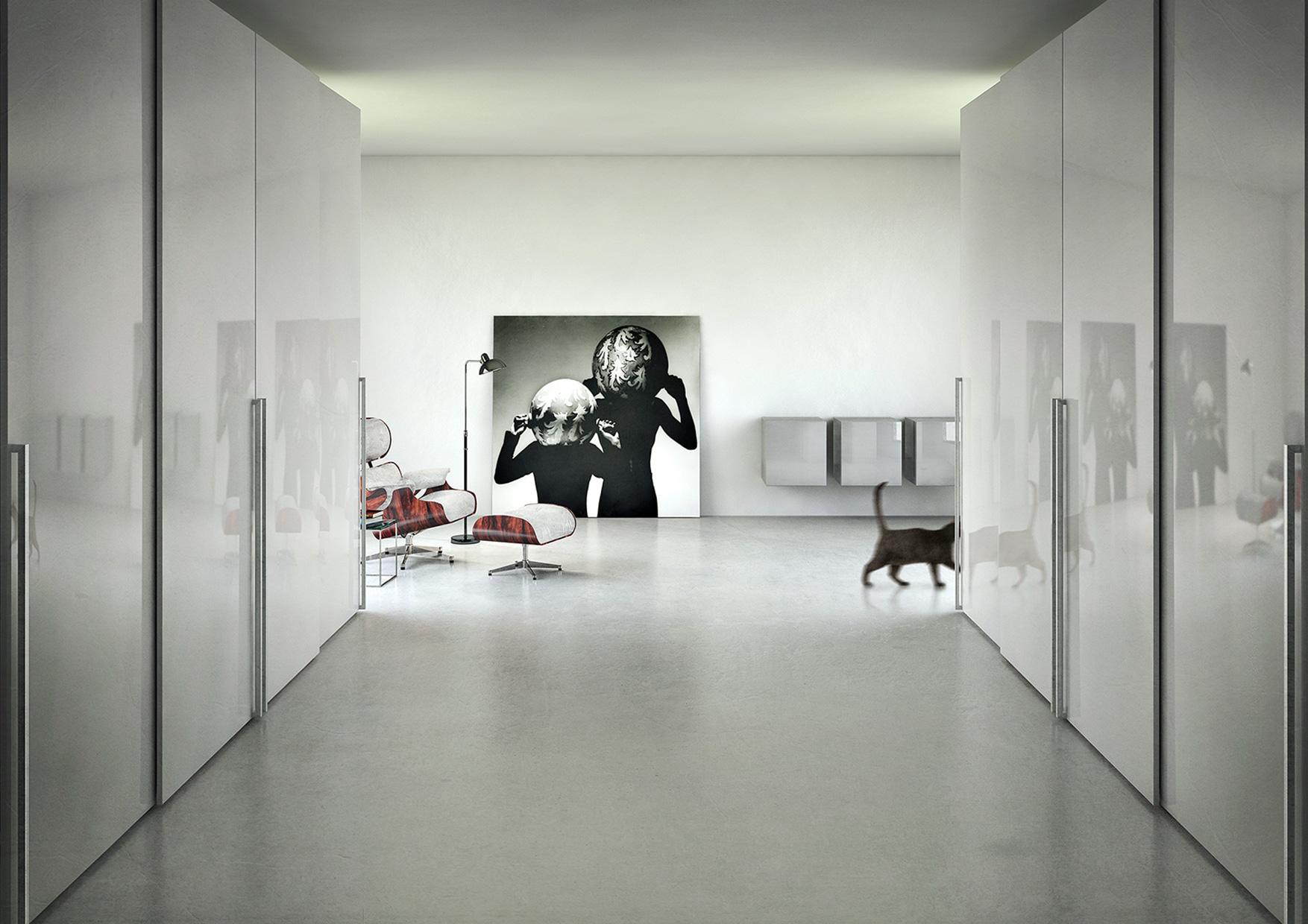 CGI Rendering 3d Beton Concrete Apartment Interior Ankleidezimmer Idris Kolodziej