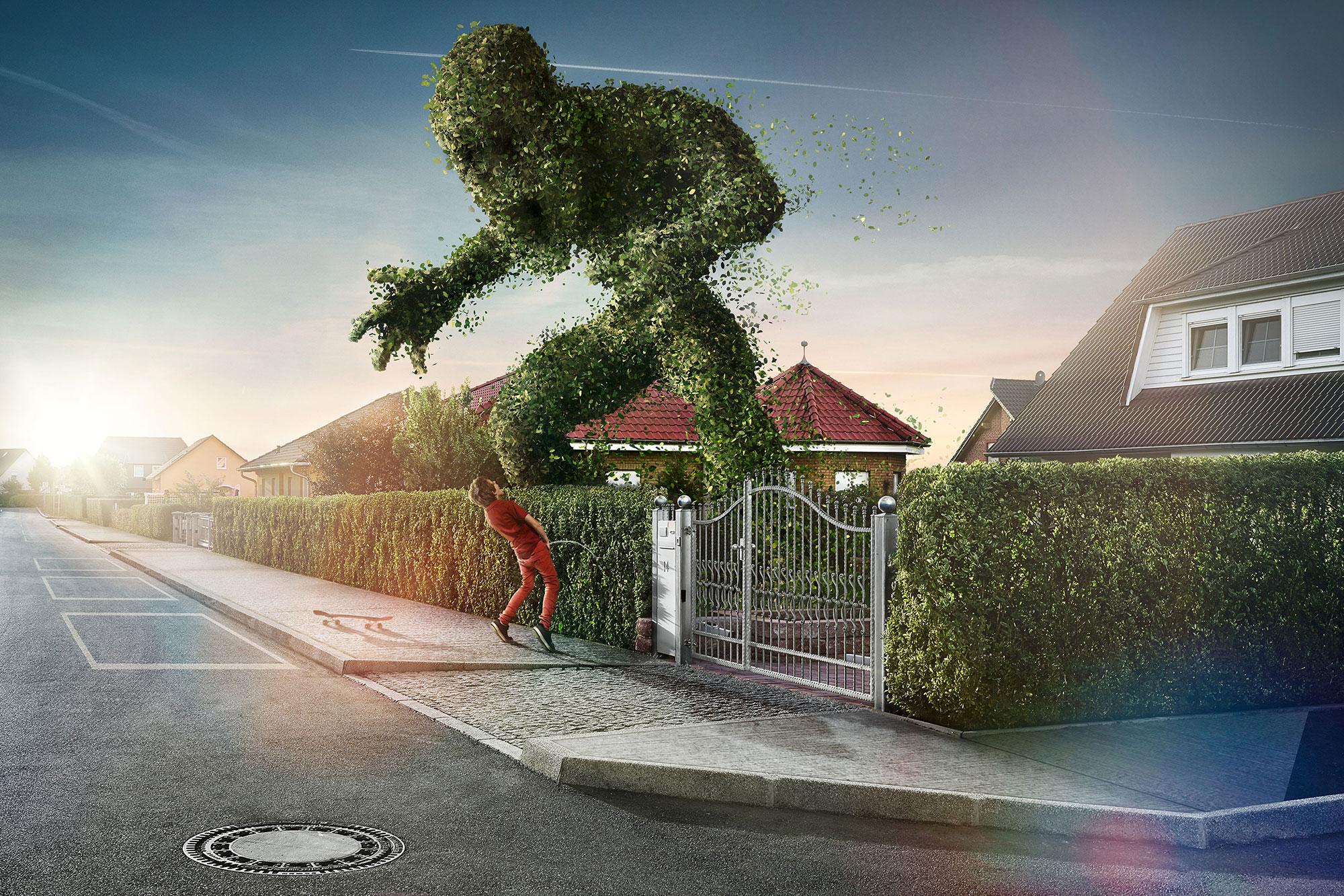 CGI Rendering 3d Heckenmonster The Hedge Garten Vorstadt Idris Kolodziej