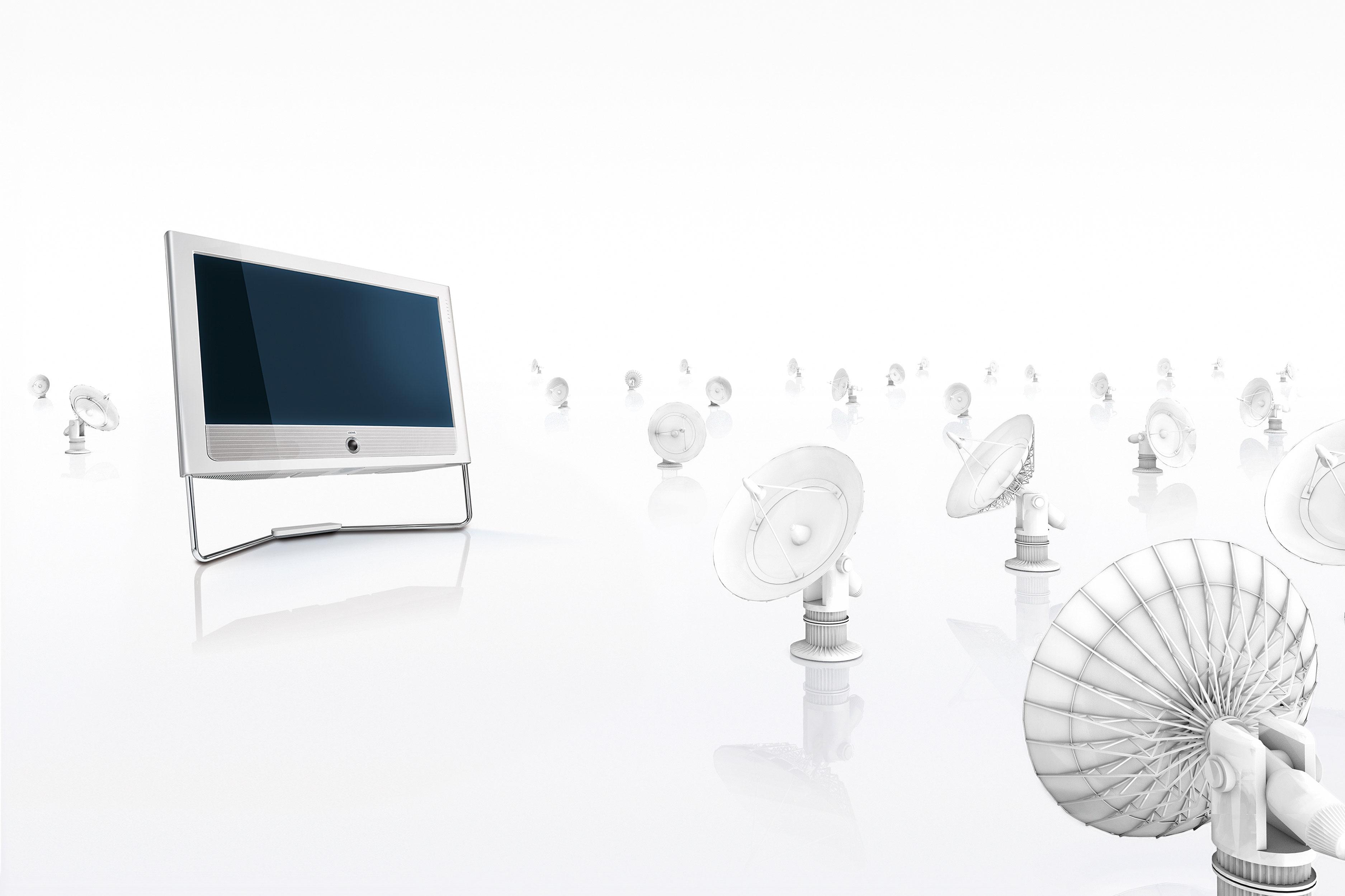 CGI Rendering 3d Loewe TV Highkey Weiss Radioteleskope Idris Kolodziej