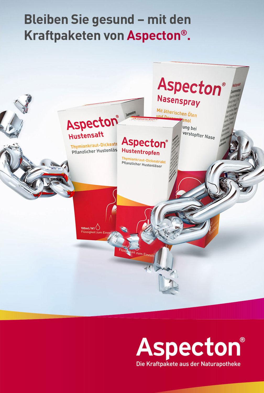 Advertising CGI Rendering 3d Aspecton Husten Tropfen Nasenspray Kraftpakete Kette Sprengung Packung Pharma Arznei Idris Kolodziej