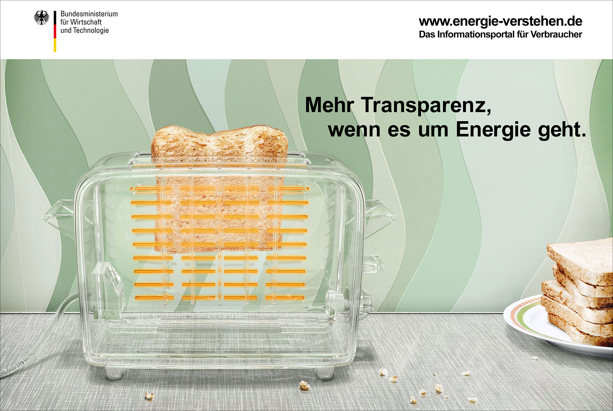 Advertising CGI Rendering 3d BMWI Energie transparent Transparenz Energie Toaster Retro Tapete Idris Kolodziej