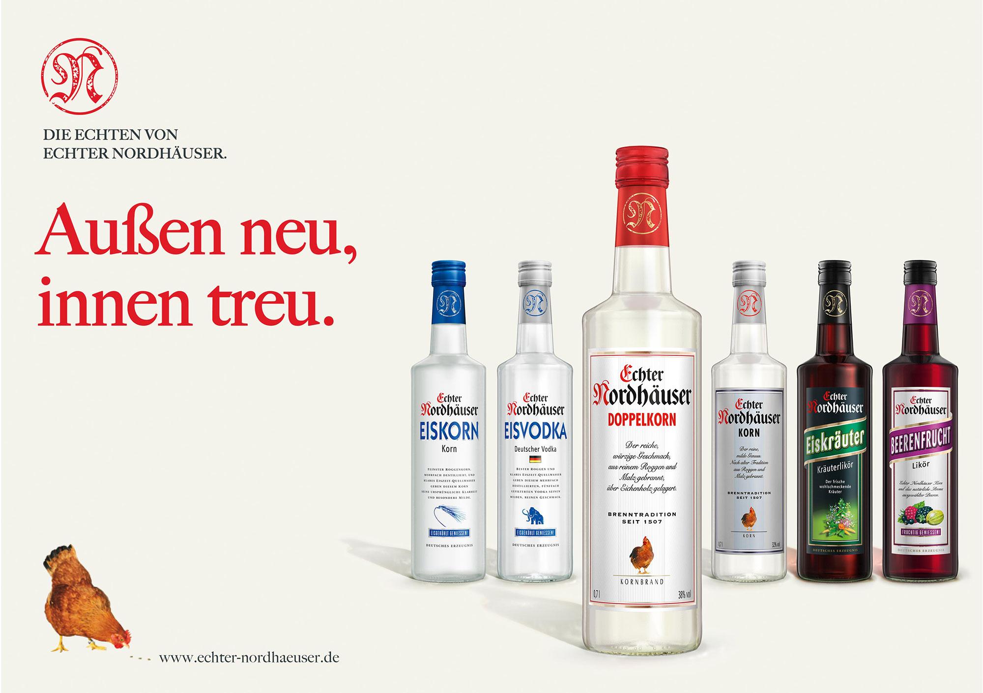Advertising CGI Rendering 3d Echter Nordhäuser CGI Eiskorn Eiskräuter Doppelkorn Eisvodka Beerenfrucht Likör Flasche Liquid Getränke Alkohol Idris Kolodziej