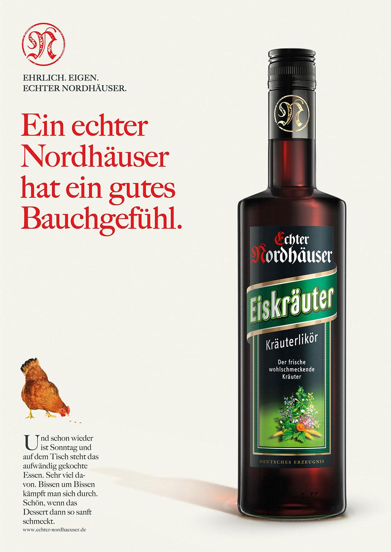Advertising CGI Rendering 3d Echter Nordhäuser CGI Eiskräuter Bauchgefühl Flasche Liquid Getränke Alkohol Idris Kolodziej