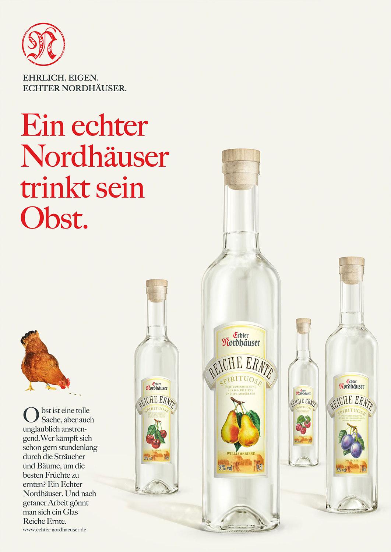 Advertising CGI Rendering 3d Echter Nordhäuser CGI Obstler Obstbrand Pflaume Kirsche Himbeere Birne Flasche Liquid Getränke Alkohol Idris Kolodziej