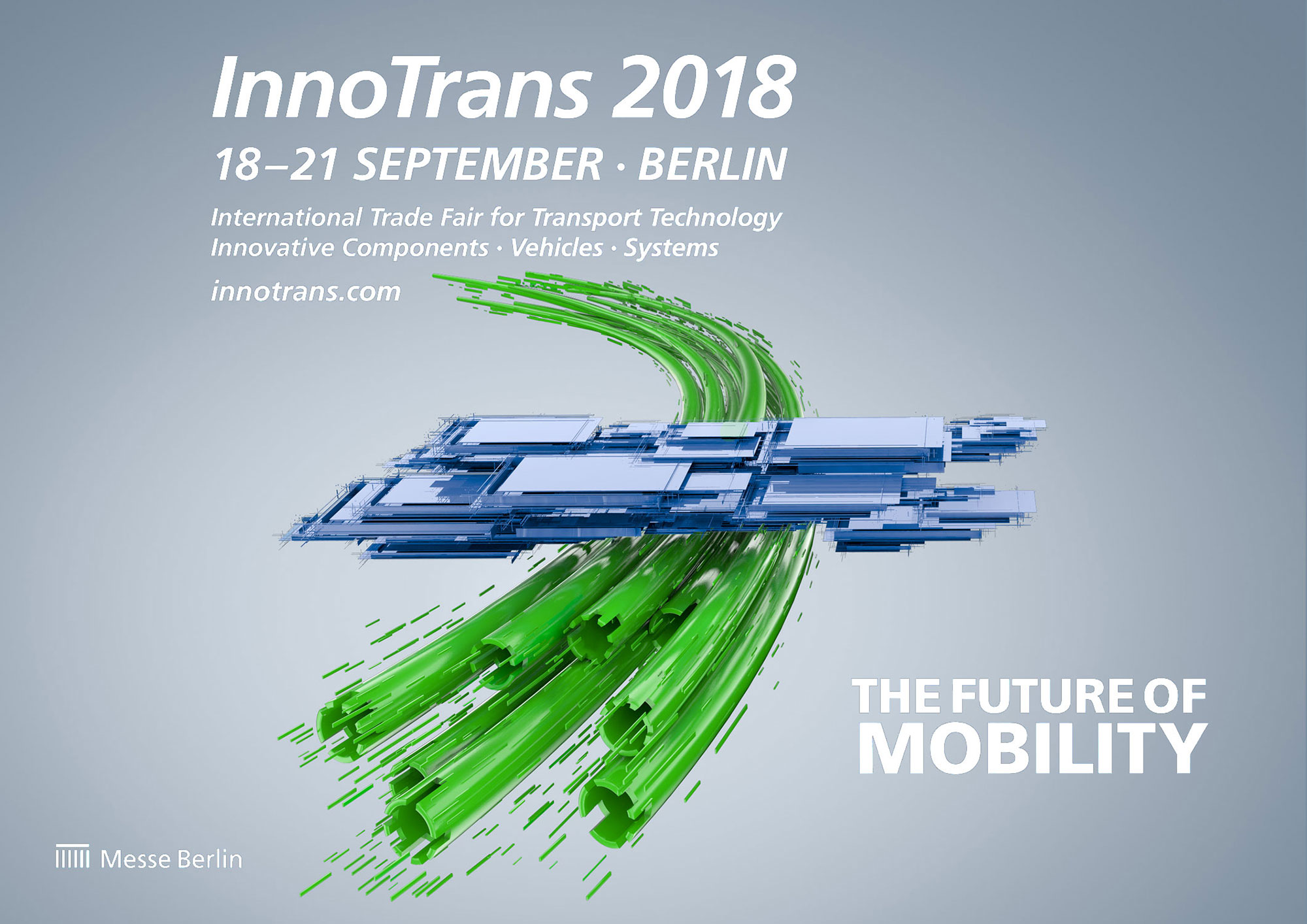 Advertising CGI Rendering 3d Innotrans Logo Messe Schienen Transformation Future Mobility Idris Kolodziej
