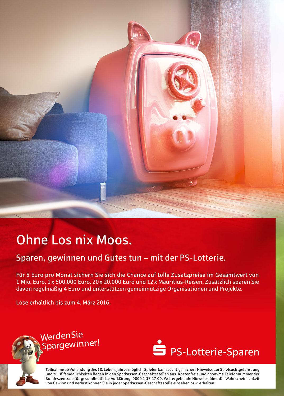 Advertising CGI Rendering 3d PS-Sparen Los Lotterie Sparschwein Gewinner Tresor Wohnzimmer HDRI Backplate Sphere Idris Kolodziej