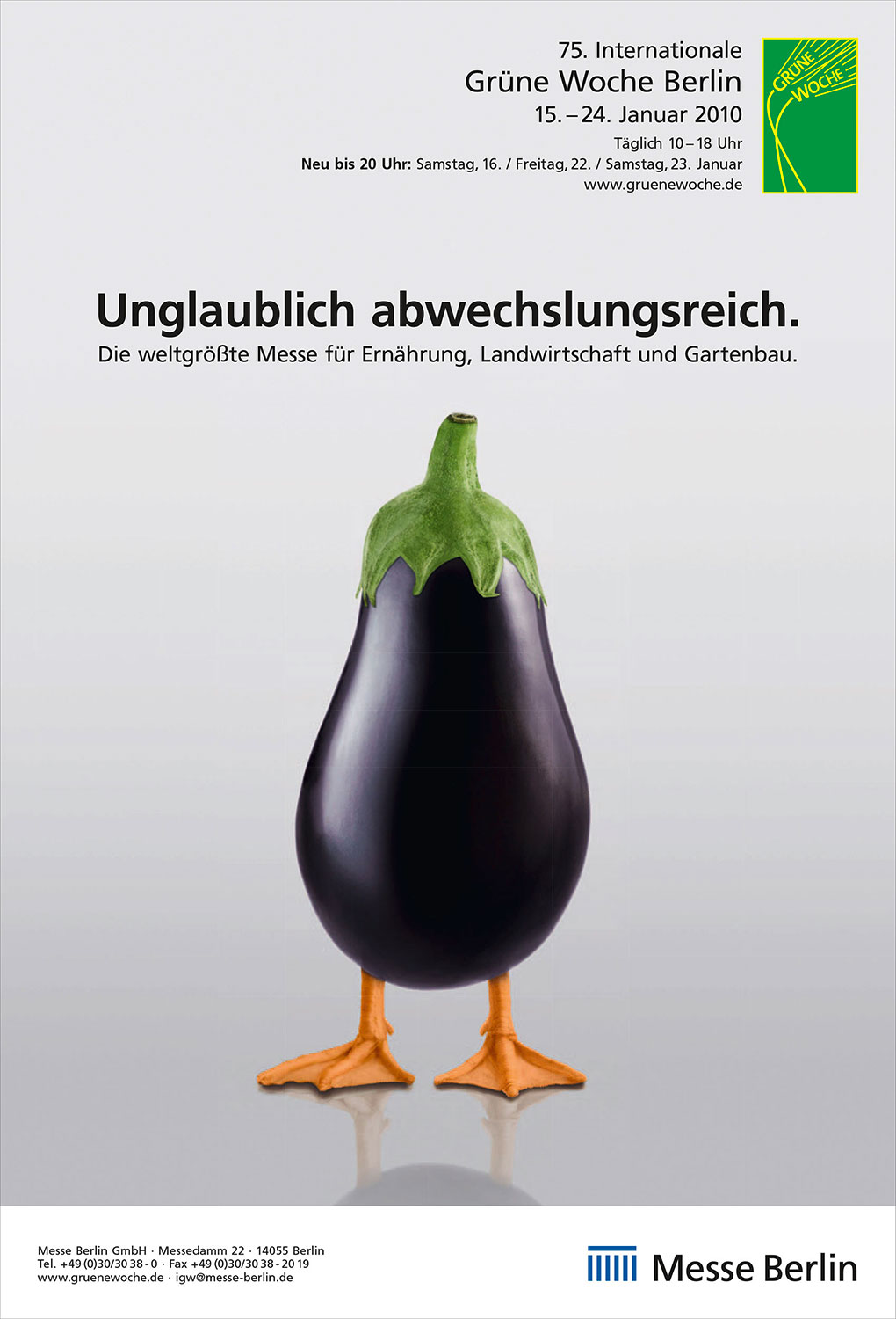 Advertising Photographie Still Life Composing Internationale Grüne Woche Messe Aubergine Entenfuss unglaublich abwechslungsreich Idris Kolodziej
