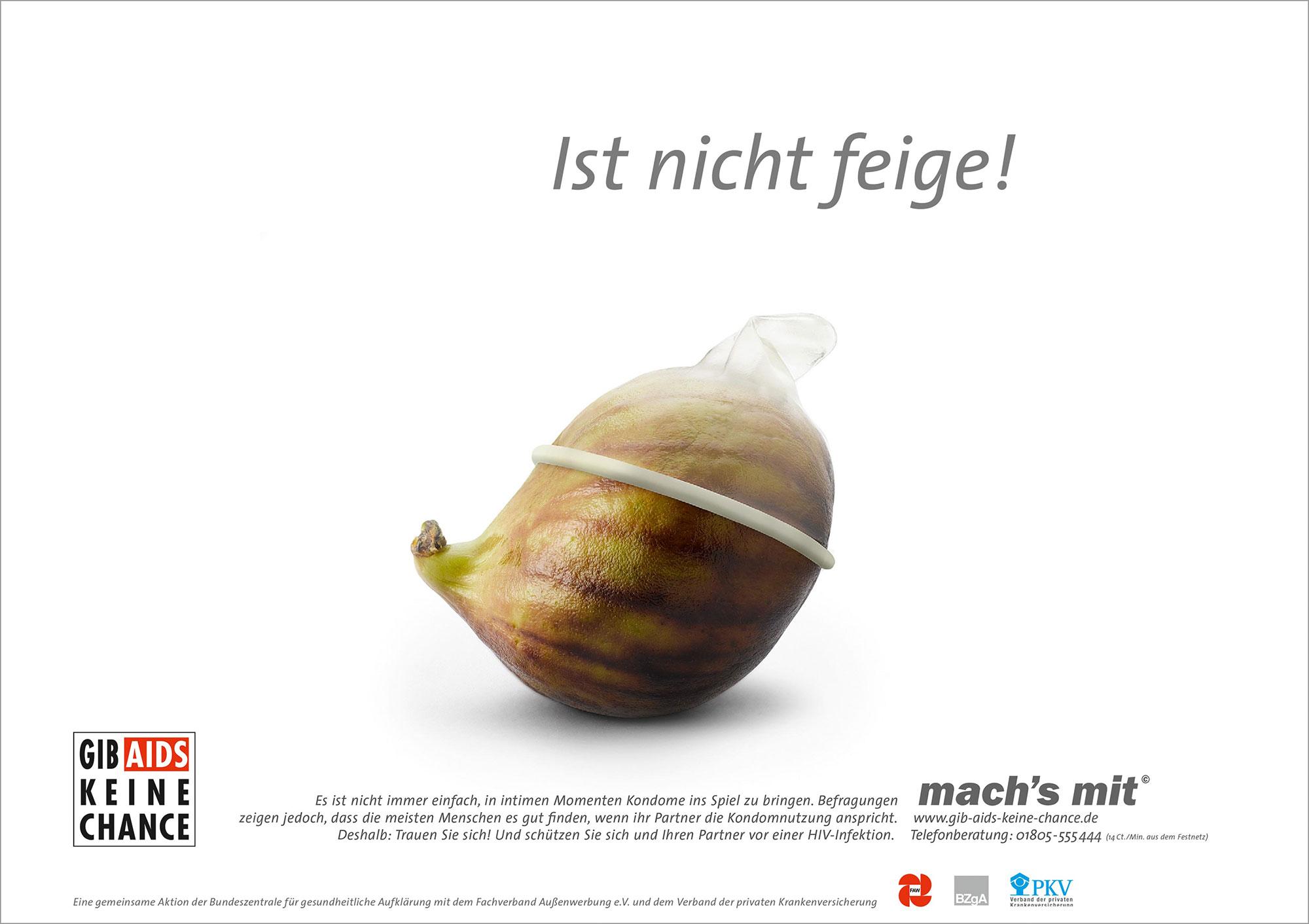 Advertising Still life Photographie Fotografie Studio BZGA mach´s mit AIDS Kampagne Feige Kondom Idris Kolodziej