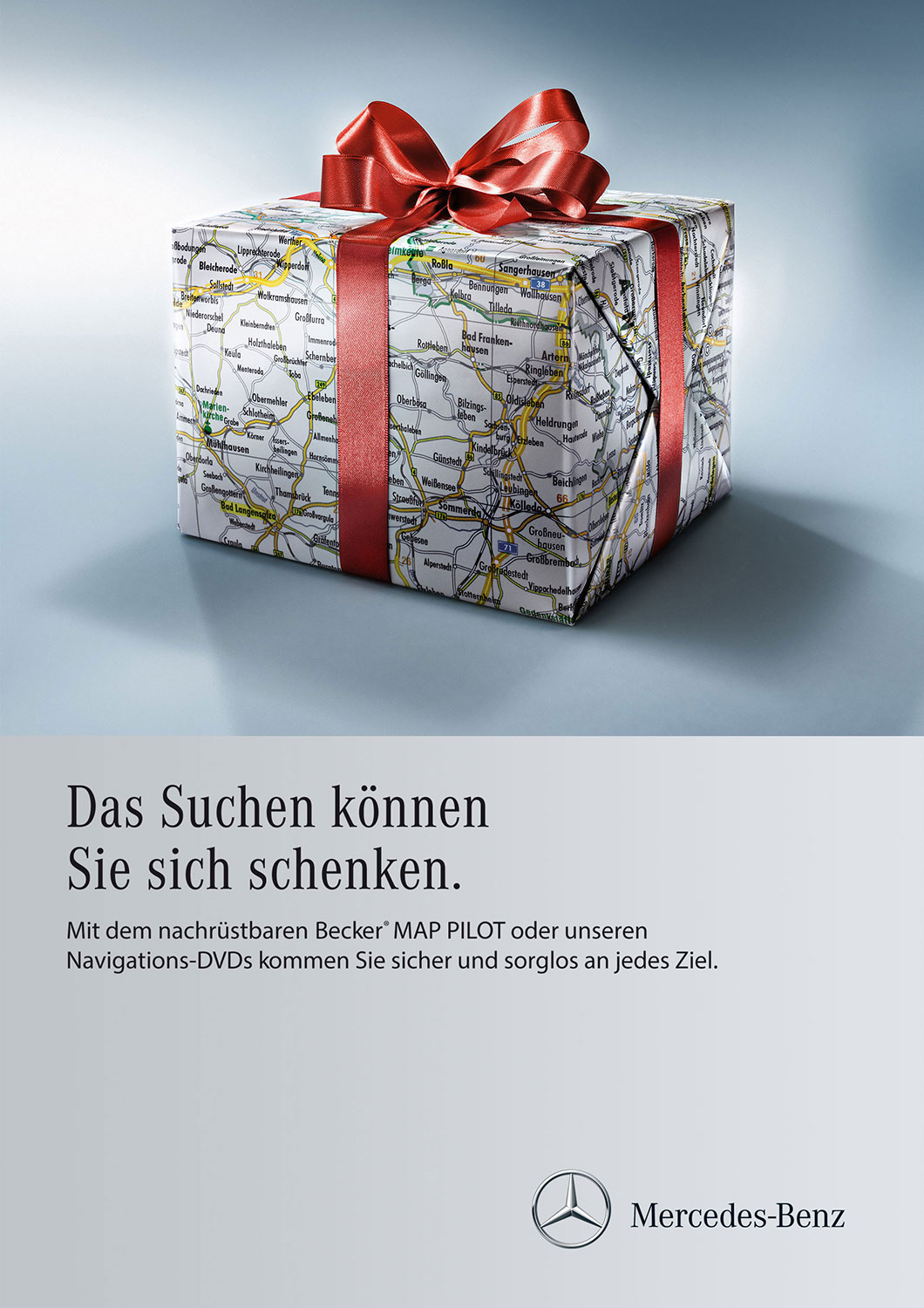 Advertising Still life Photographie Fotografie Studio Mercedes Benz Services Navigation Geschenk Paket Schleife Idris Kolodziej