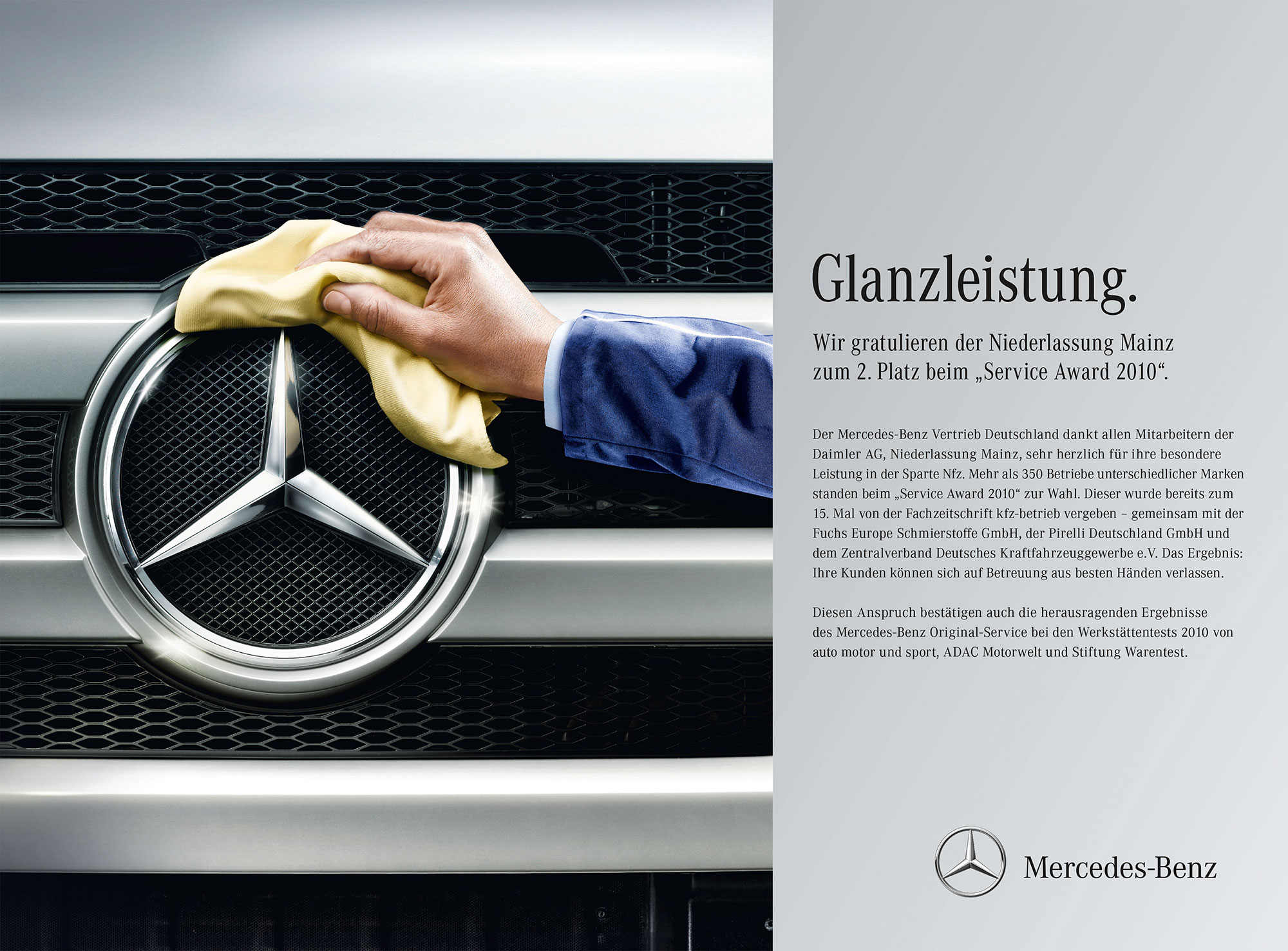 Advertising Still life Photographie Fotografie Studio Mercedes Benz Services Sternputzer Glanzleistung Still life Idris Kolodziej
