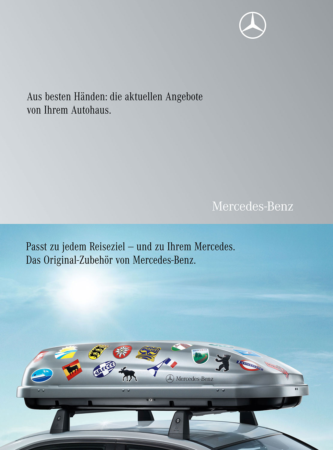 Advertising Still life Photographie Fotografie StudioMercedes Benz Services Dachbox Original Zubehör Still life Idris Kolodziej