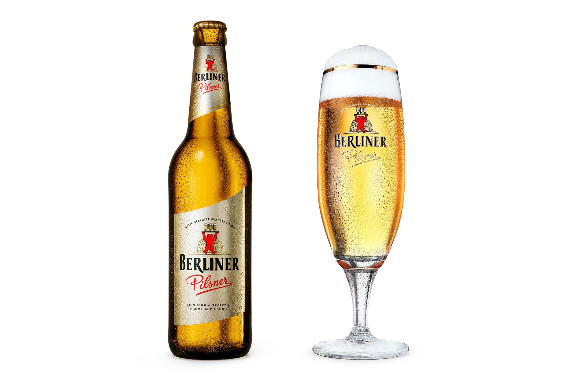 Still life Photographie Fotografie Studio Berliner Pilsner Liquids Bier Flasche Glas Betauung Idris Kolodziej