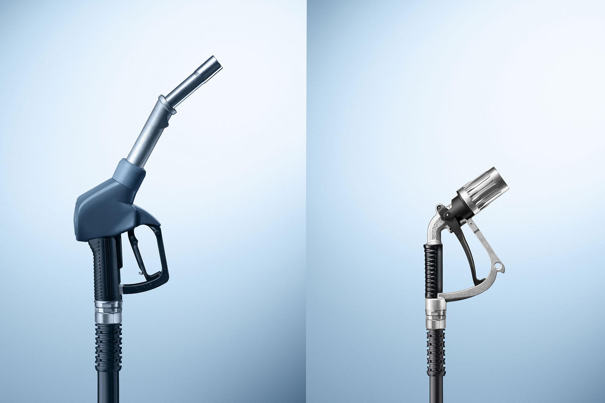 Advertising Mercedes Benz Services LPG Flüssiggas Nachrüstung Zapfhahn Benzin Still life Idris Kolodziej